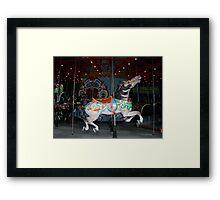 Central Park Carousel Horse Framed Print
