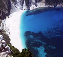 Myrtos Bay by Wayne Gerard Trotman