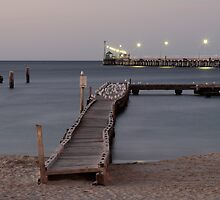 Busselton jetty at dusk by Phil  Crean