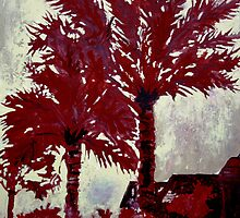 palm trees modern art acrylic painting by derekmccrea