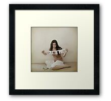 It always comes back to 'us'. Framed Print