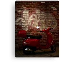 little red motorbike Canvas Print