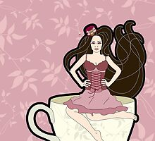 Tea and Corsets by thickblackoutline