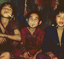 Karen boys smoking by John Spies