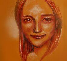 Lipstick Girl E by Midori Furze