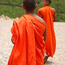 buddhist monks by steveault