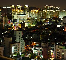 Incheon at Night by Saikat Babin Biswas
