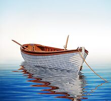 Boat in a Serene Sea by horacio10