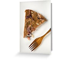 Savoury castagnaccio Greeting Card