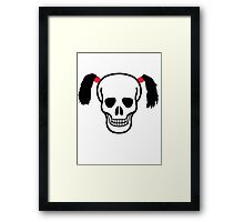 Skull With Bunches Framed Print