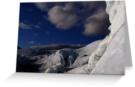 Far ice - climber in deep blue bliss by LichenRockArts