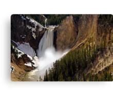 Lower Falls - Yellowstone River Canvas Print