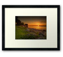Violetter Sonnenaufgang Framed Print