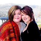 Portrait: Lily and Kaitlin at Dru Point, Margate Tasmania by Vanessa Pike-Russell