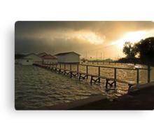 Mosman Bay Boatsheds At Dawn  Canvas Print