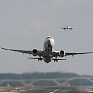 Busy Runway at DCA by arushton
