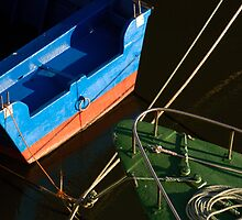 Boats in colour by Anne Frizell