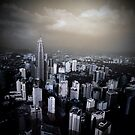 Petrona Twin Towers Skyline by tazee