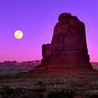 Moonrise at Arches National Park by Mitchell Grosky