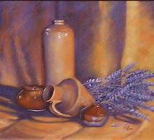 """Still Life with Lavender & Jugs"" by Brenda Matson"
