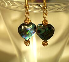 Paua Shell Earrings by Erica Long