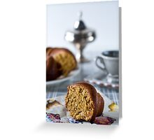 Coffee is served Greeting Card