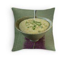 Leek and potato soup Throw Pillow