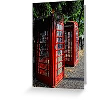 2 Red telephone boxes Greeting Card