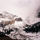 Storm grows over icefalls, Kyrgyzstan by LichenRockArts