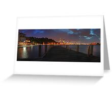 Old Swan Brewery Jetty At Dawn Before The Storm  Greeting Card