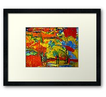 You are there when you see the palm trees! Framed Print