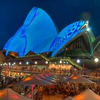 Luminous in Blue - Sydney Opera House by Erik Schlogl