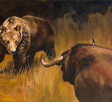 Bear Vs Bull by Andy Beck