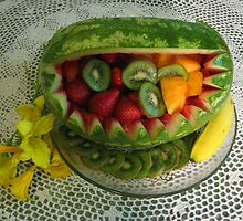 Watermelon Picnic by Linda Miller Gesualdo