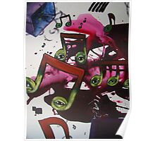 Cellist on a Box Poster