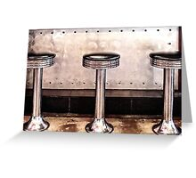 Diner Stools Greeting Card