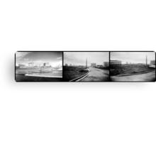 Triple Industrial Canvas Print