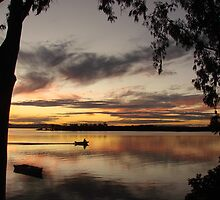 Fishing Gum Sunset by Martice