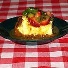 Strawberry Kiwi Carmel Cheese Cake by Linda Miller Gesualdo
