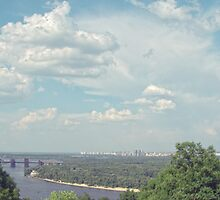 Blue sky over river the Kiev by Tutelarix