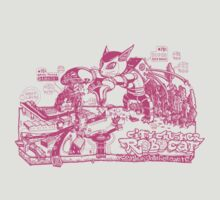 City-crusher Cat Robot Pink version by Adew