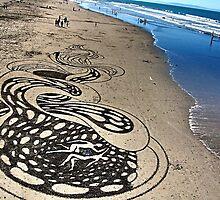 unreal. new brighton beach, aotearoa  by tim buckley   bodhiimages