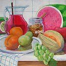 Honey and Fruit by nancy salamouny