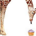 """Licker with Cupcake"" Giraffe Watercolor by Paul Jackson"