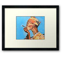 Just Smokin' Framed Print