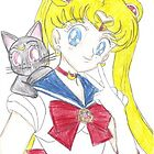 Sailor Moon and Luna by MermaidPrincess