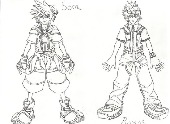 Sora and Roxas by MermaidPrincess