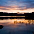 Sunset on Loch Brora - Sutherland, Scotland by David Lewins