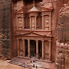 'The Treasury' in Petra, Jordan by Julie Waller