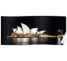 Sydney Opera House in Colour, June 2009.  Poster